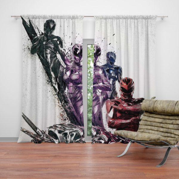 Teen Power Rangers 5 Movie Themed Curtain