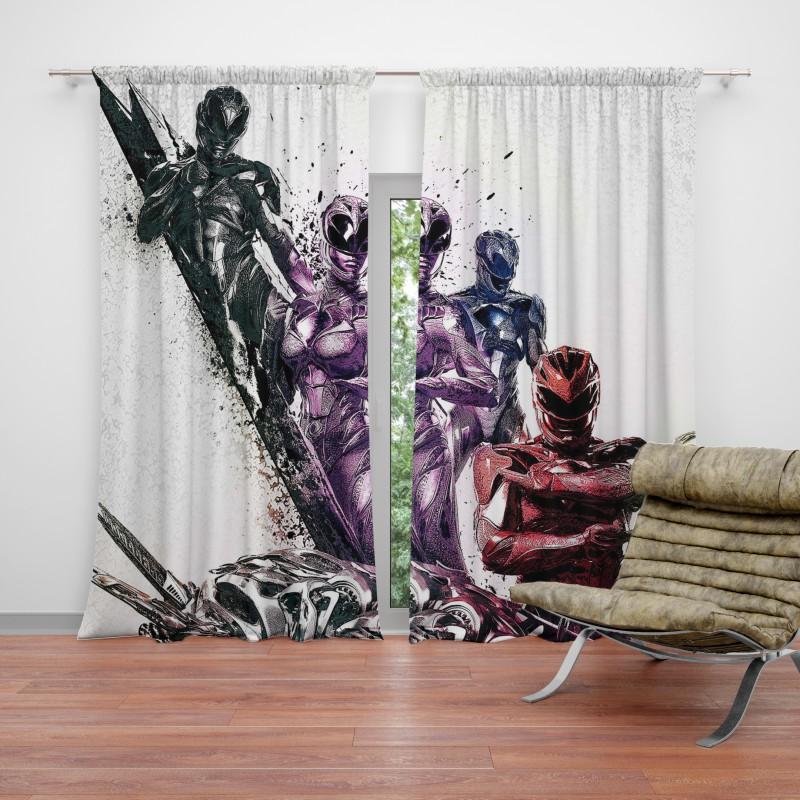 Teen Power Rangers 5 Movie Themed Curtain Ebeddingsets