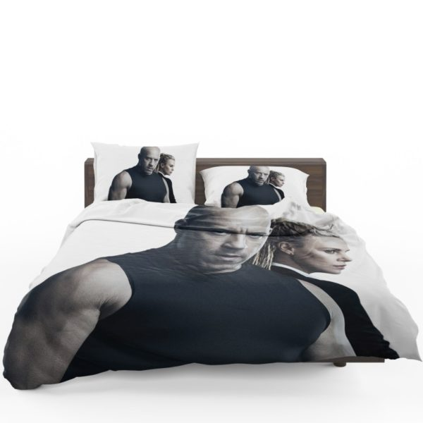 The Fate of the Furious Vin Diesel Charlize Theron Bedding Set