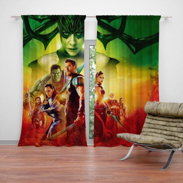 Thor Ragnarok Super Heroes Movie Curtain