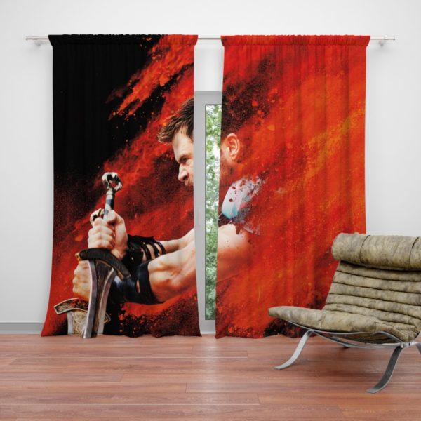 Thor Ragnarok Thor Chris Hemsworth Curtain