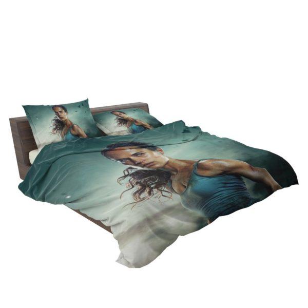 Tomb Raider Alicia Vikander Lara Croft Bedding Set3