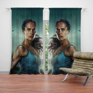 Tomb Raider Movie Themes Alicia Vikander Lara Croft Curtain