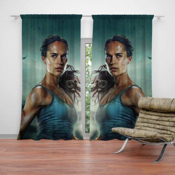 Tomb Raider Movie Themes Alicia Vikander Lara Croft Curtain
