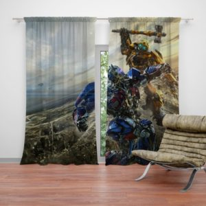Transformers Bumblebee Optimus Prime Fight Curtain