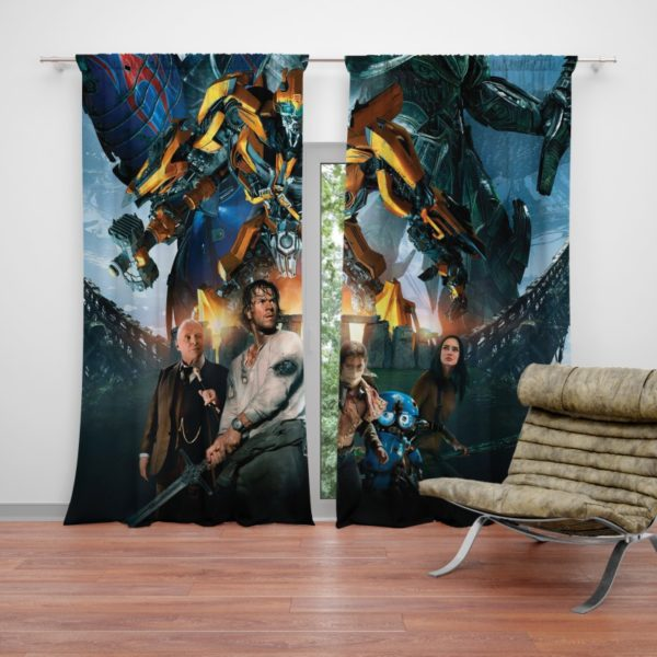 Transformers the Last Knight Bumblebee Mark Wahlberg Curtain