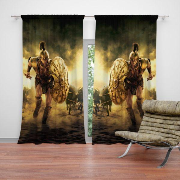 Troy Achilles Brad Pitt Adventure Curtain