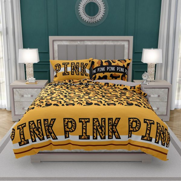 Victoria's Secret Pink Leopard Pattern Print Bedding Set