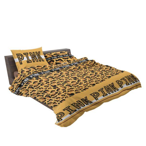 Victoria's Secret Pink Leopard Pattern Print Bedding Set
