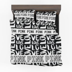 Victoria's Secret Pink Valentine Day Pattern Bedding Set