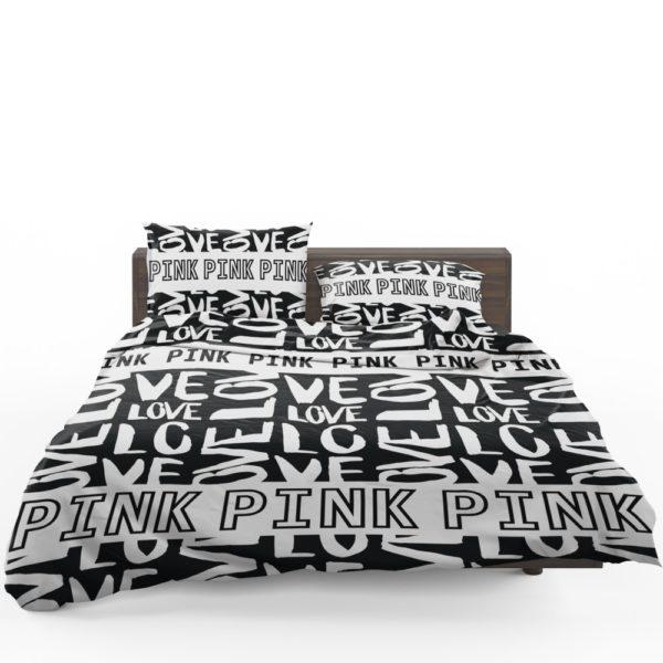 Victoria's Secret Pink Valentine Day Pattern Bedding Set