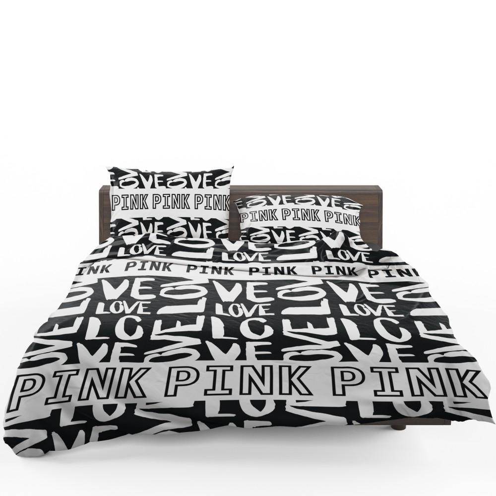 Victoria S Secret Pink Valentine Day Pattern Bedding Set