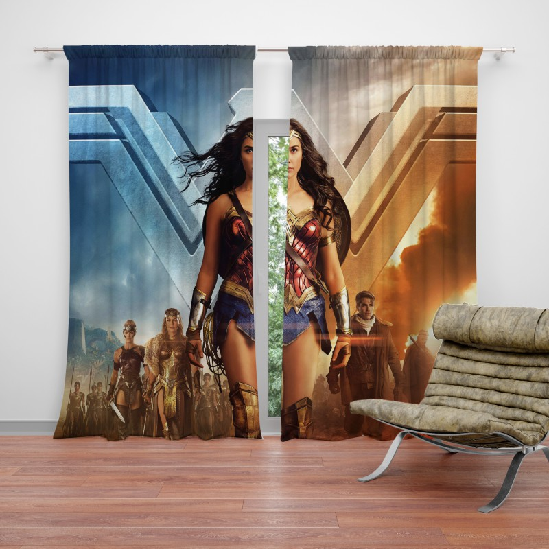 Wonder Woman Gal Gadot Curtain Ebeddingsets