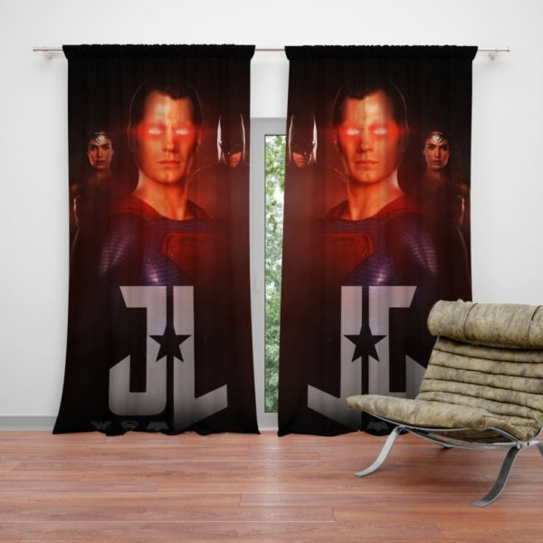 Wonder Woman Superman Batman Curtain
