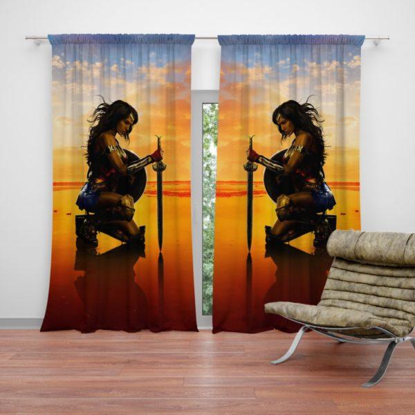 Wonder Women Gal Gadot Curtain