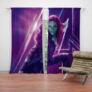 Zoe Saldana Gamora Avengers Infinity War Curtain