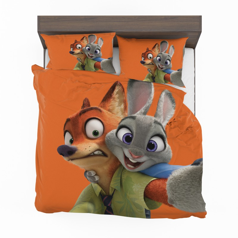 Zootopia Movie Nick Wilde Judy Hopps Bedding Set