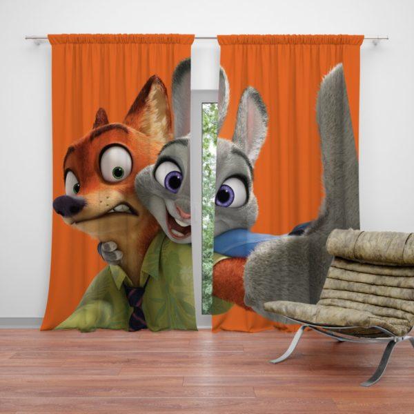 Zootopia Movie Nick Wilde Judy Hopps Curtain