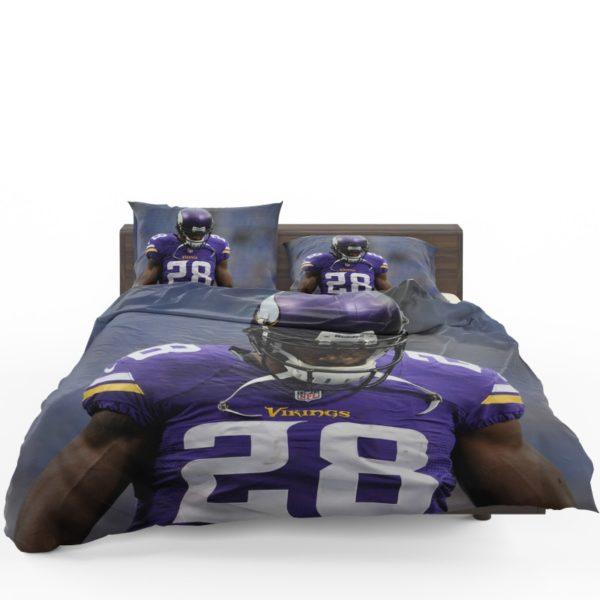Adrian Peterson Minnesota Vikings American Football Bedding Set1