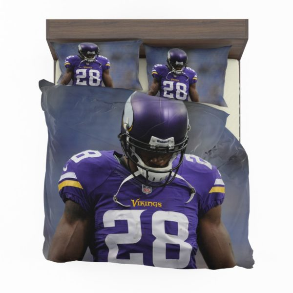 Adrian Peterson Minnesota Vikings American Football Bedding Set2