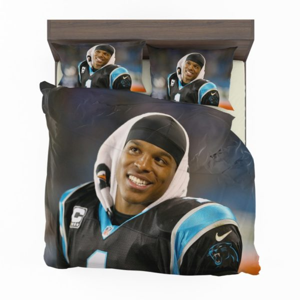 Cam Newton Quarterback Carolina Panthers Nfl Bedding Set
