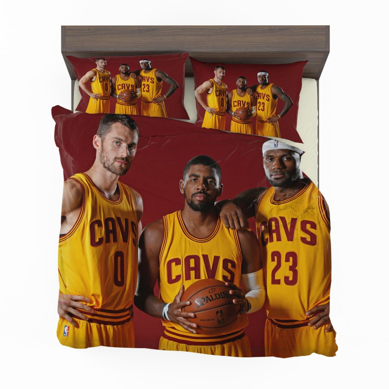 Cleveland Cavaliers Kyrie Irving Kevin Love Lebron James Bedding