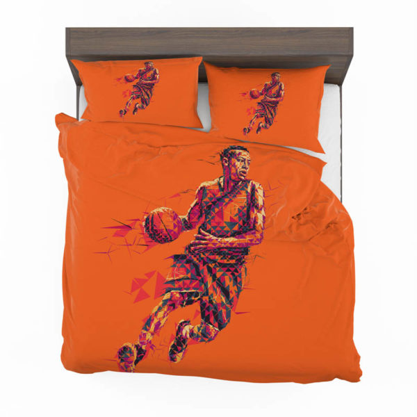 Nfl Basketball Player Low Poly Mosaic Art Bedding Set