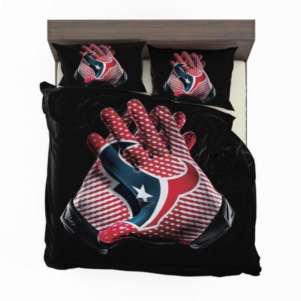 NFL Houston Texans Football Logo Hands Bedding Set2