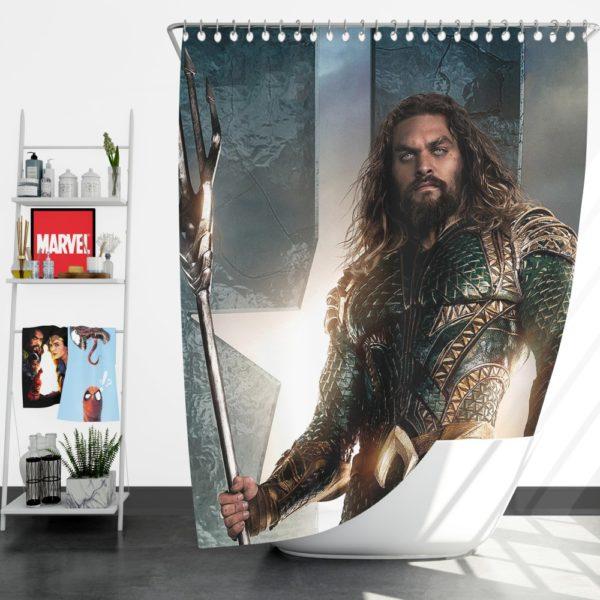 Aquaman Justice League Super Hero Shower Curtain