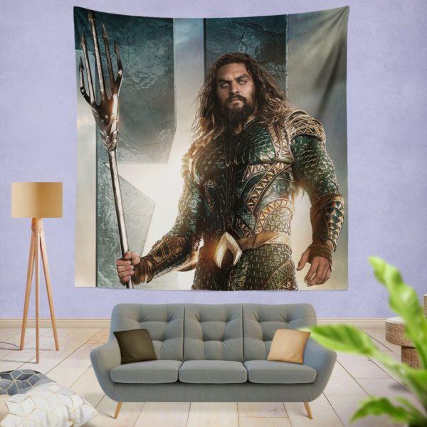 Aquaman Justice League Super Hero Wall Hanging Tapestry