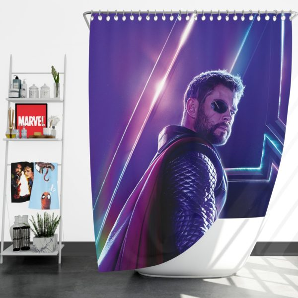 Avengers Infinity War Chris Hemsworth Thor Shower Curtain