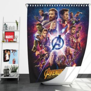 Avengers Infinity War Marvel Comic Movie Shower Curtain