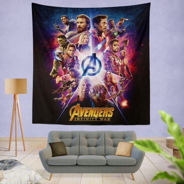 Avengers Infinity War Marvel Comic Movie Wall Hanging Tapestry