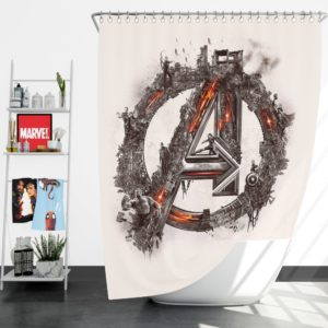 Avengers Logo Print Shower Curtain
