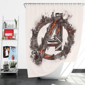 Avengers Logo Print Shower Curtain