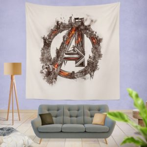 Avengers Logo Print Wall Hanging Tapestry