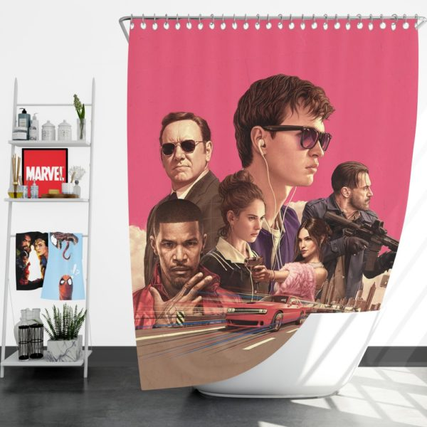 Baby Driver Movie Kids Shower Curtain