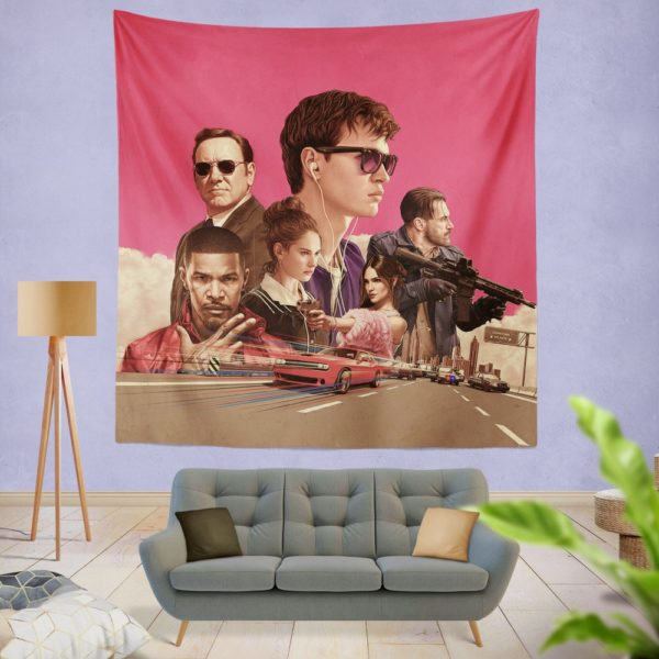 Baby Driver Movie Kids Wall Hanging Tapestry