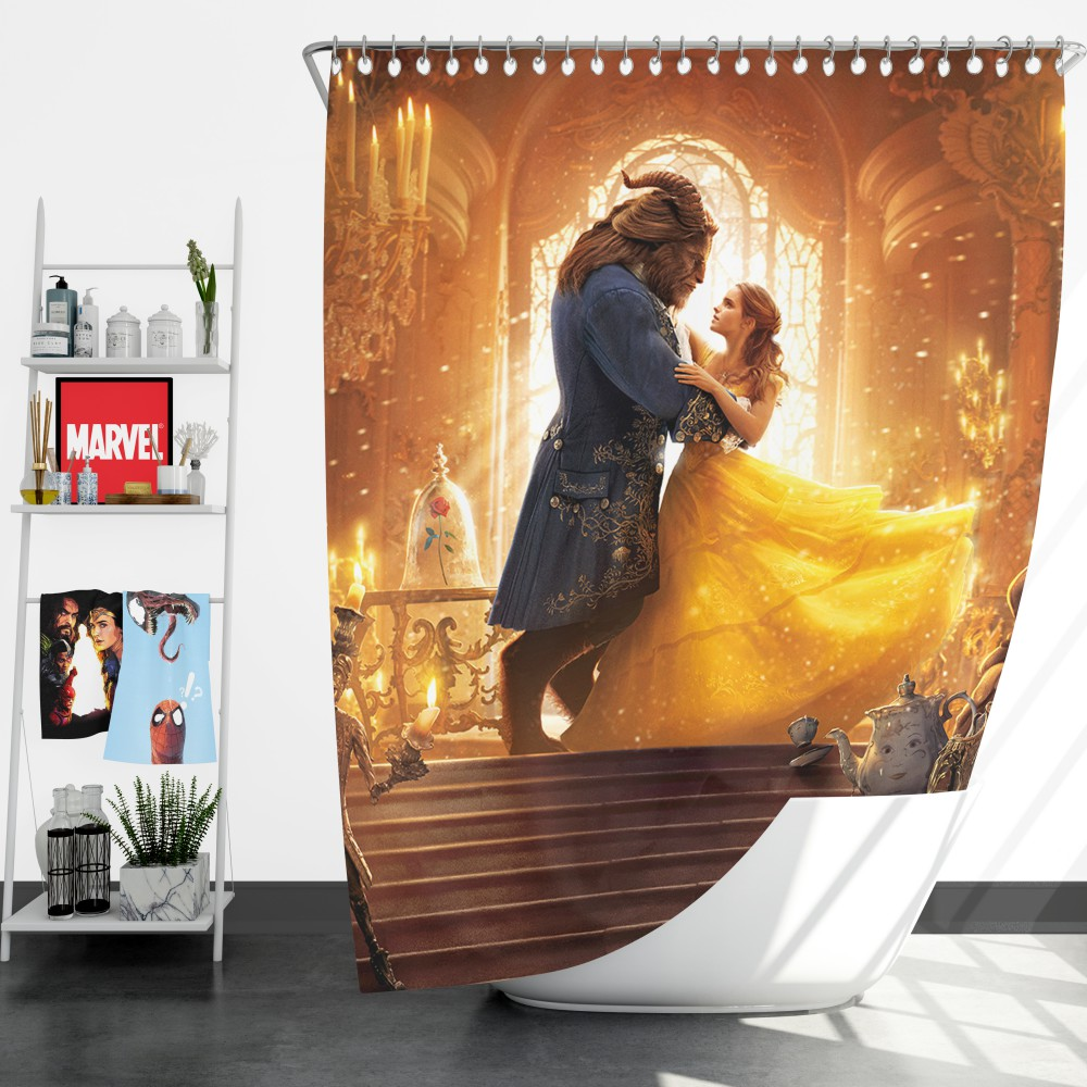 Beauty And The Beast Movie Shower Curtain