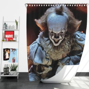 Bill Skarsgard Pennywise Clown It Shower Curtain
