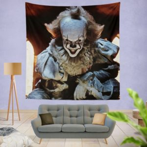 Bill Skarsgard Pennywise Clown It Wall Hanging Tapestry