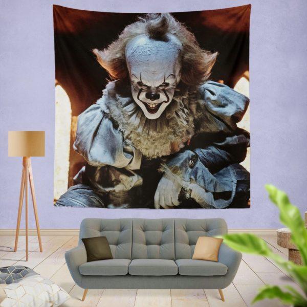 Bill Skarsgard Pennywise Clown It Wall Hanging Tapestry