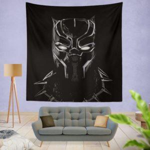 Black Panther Artwork Movie Wall Hanging Tapestry