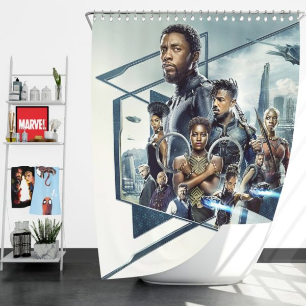 Black Panther Bedroom Shower Curtain