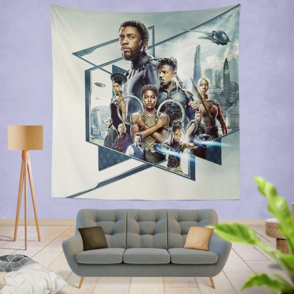 Black Panther Bedroom Wall Hanging Tapestry