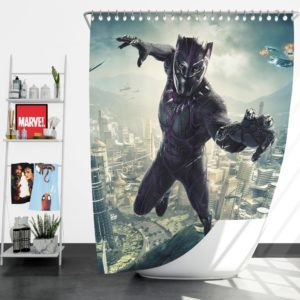 Black Panther Kids Teen Shower Curtain