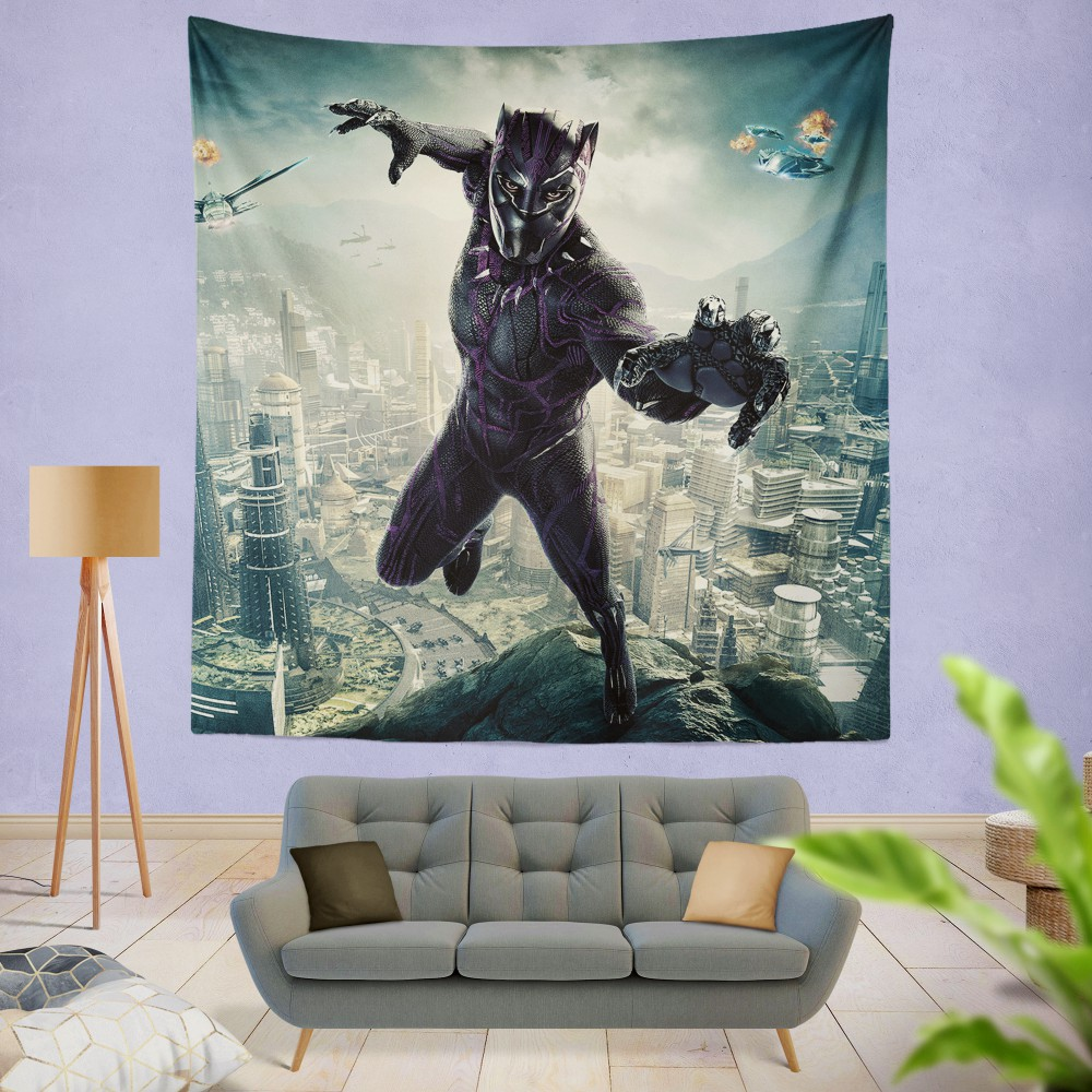 Black Panther Kids Teen Wall Hanging Tapestry Ebeddingsets