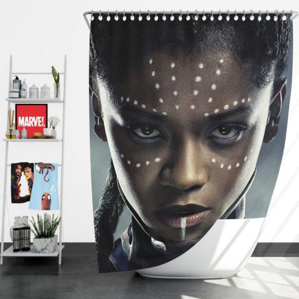 Black Panther Letitia Wright Shuri Shower Curtain