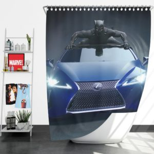 Black Panther Lexus LC Shower Curtain