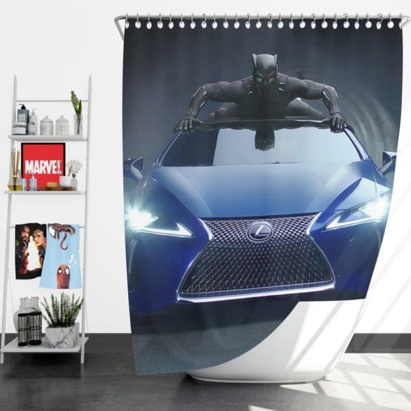 Black Panther Lexus LC Shower Curtain
